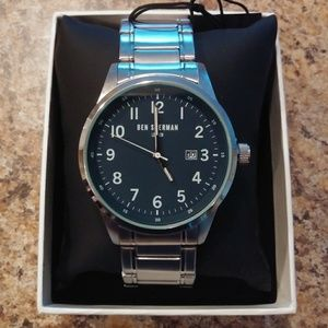 BEN SHERMAN Men's Blue Face Bracelet Watch